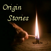 thuviaptarth: a hand lighting a candle set in a grooved surface (origin stories)