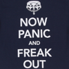 sofiaviolet: upside-down crown and text: now panic and freak out (now panic and freak out)