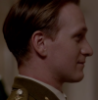 fengirl88: Head and shoulders of a man in profile in army uniform (Parker Silk)