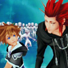 notzubats: Sora and Axel banter (feeling a little regret?)