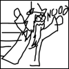 rionaleonhart: harry potter: extremely poorly-drawn dumbledore fleeing and yelling NOOOOOOOOO. (NOOOOOOOOO)