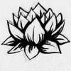 amberdrake: Drake's lotus tattoo, drawn by Faun (imagine there's no heaven)