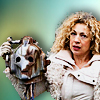 annariel: Picture of River Song holding a Cyberman head (Who:River)