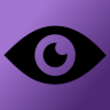 third_eye_system: a black vector of an eye with a purple gradient in the background (3i, default)
