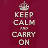 sofiaviolet: from WWII British propaganda: crown and text: keep calm and carry on (keep calm and carry on)