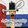 feng_shui_house: a man walks into a bar (ficathon into a bar)