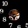 """kaffyr: Weeping angel peers through """"clock"""" (Time's no Angel)"""