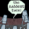 "tlvop: Drawing of robots being appalled; shouting ""the saddest face!"" (THE SADDEST FACE)"