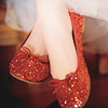 recessional: a photo image of feet in sparkly red shoes (0)