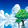 abeiramar: two trees surrounded by clouds and water (Tree) (Default)