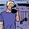jb_slasher: clint barton; hawkeye (busting up a starbucks)