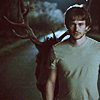caveat_lector: will graham at night on road with stag behind him (will and stag)