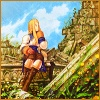 oneill: Final Fantasy Tactics - Agrias Oaks sits amid a sunny ruins (Oh! My dear! My 'tis of thee!)