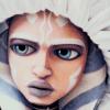 bluegansey: close-up of ahsoka tano looking down and to the left (ahsoka tano gray)