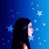 bluegansey: isabelle lightwood on a starry blue background (isabelle lightwood blue)