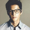 citizendamian: Joseph Marco in glasses with a thick black frame and wearing a pale shirt (Damian(glasses))
