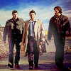 miscellanium: dean, castiel, and sam walking down the street - from 5.18 point of no return (spn | everybody's talkin')