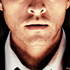 miscellanium: castiel's face, eyes cropped out, lit from beneath by fire - from 5.10 abandon all hope (spn | he never wants to sing my songs)