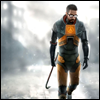 """newtypelady: Gordon Freeman saves the day. (""""Now is the winter of our discontent...)"""