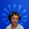 bluegansey: padme amidala on a blue background (padme amidala blue)
