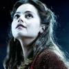 bluegansey: clara oswald looking at the sky in wonder (clara oswald black)