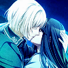 mikogalatea: Sakuya and Mikoto from Norn9, kissing in the moonlight. ([Norn9] Sakuya/Mikoto)