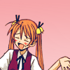 the_sun_is_up: Asuna from Negima shrugging in a dorky manner. (negima - that's how i roll)