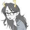 straylines: vriska looking bored (8ored)