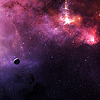 tinfoiltennis: A purple-tinted image of outer space (✎ other universes far from here)