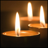 taennyn: three votive candle flames (for memory)