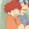 jlarinda: Tai & Koushirou laughing (Digimon - LOL)