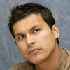 mervinmcginty: Adam Beach wearing a brown t-shirt and looking up right (Mervin(soundsliketrouble))