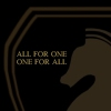 backtothelight: The chess knight logo from the Foundation for Law and Government with the text 'One for All, All for One.' (FLAG)