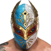 john_clarke: Sin Cara, as portrayed by Hunico, in a white and blue mask. (Hunico, Sin Cara)
