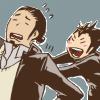 flippinflakes: (noya pushing asahi)