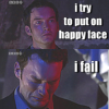"dru_evilista: Ianto crying with the text ""I try to keep a happy face. I fail."" (Happy Face)"