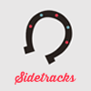 helloladies: Gray icon with a horseshoe open side facing down with pink text underneath that says Sidetracks (sidetracks)