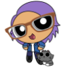 ithiliana: Powerpuff customized with purple hair and glasses (Default)