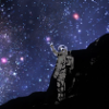 naye: an astronaut stretches his hand to a starry sky (touch the stars)