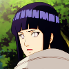 hijabi: photo of hinata looking over her shoulder in disgust. (hinata disgusted)