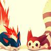 pokemod: (by alura_borealis @ LJ. [quilava/furret])