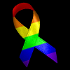 autobotden: Rainbow ribbon on black background (ribbon)