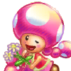 toadette: (toadette and flowers)