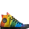 aunthippie: A single rainbow Converse with black edging from the Pride Collection (pride)