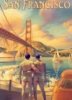 aunthippie: Two naked men hold hands in front of the golden gate bridge at sunset (big gay homo)