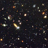 science_fiction: Part of the Hubble Deep Field (Hubble Deep Field)