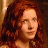 bookblather: A picture of Rachel Hurd-Wood with red, curly hair. (in the heart: summer)