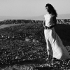 bookblather: a black and white picture of Zoe at the end of Serenity in her white widow's dress. (grief)