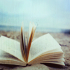 orbitaldiamonds: open book on the beach, sunny day ([ books ] book love)