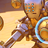 orbislife: screenshot of Zenyatta throwing orbs (We must guard the objective)